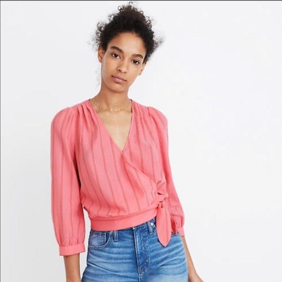 Madewell Tops - Madewell pink blouse